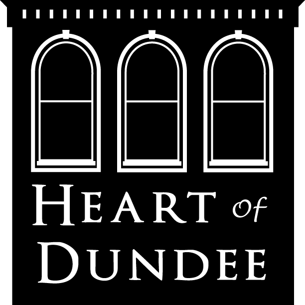 heart of dundee logo in black